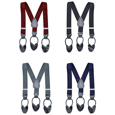 New Button End Suspender for Kids, Boys, Girls, Kids, Toddlers MADE IN USA Adjus