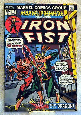 Marvel Premiere #16 (1974) 2nd appearance Iron Fist, Netflix show, VF/NM range.