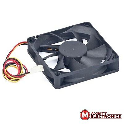 70mm PC System Case Fan 12volt DC Brushless 3pin Black gembird