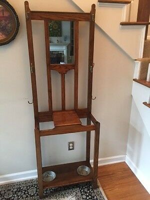 *Really Nice* Vintage Oak Hall Tree / Umbrella Stand