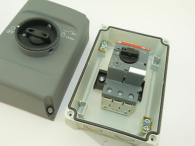 ABB IB132-G Enclosure Nema 12/IP65 MS116-6.3 Manual Starter 4.0 to 6.3A NEW