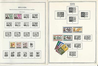 Rwanda Collection 1962-1977 on Minkus Specialty Pages, 85 Pages