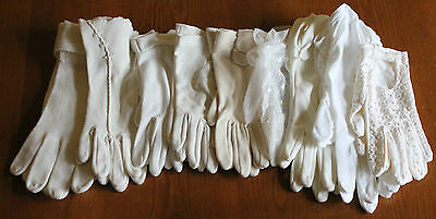 Lot Of Vintage Ladies Gloves Size - Small/medium - 9 Pairs - Nice Lot!!