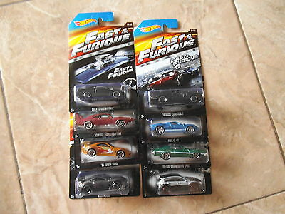 Hot wheels Fast & Furious  set Paul Walker (Ford GT, Mustang,Nissan, Subaru)
