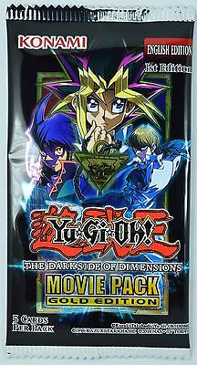 YuGiOh Dark Side of Dimensions Movie Pack Gold Edition Booster Pack MVP1 1st Ed.