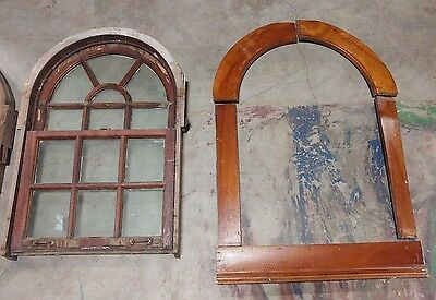 Antique Arched Window in Frame - Upper and Lower Sash - Weights/Pulleys