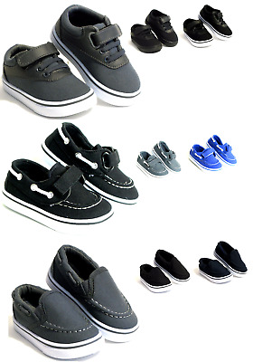 New Baby Toddler Boy Or Girls Casual Canvas Shoes Loafers - SlipOn Boat Shoes
