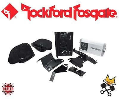 Rockford Fosgate Front Audio Speaker & Amp Kit Harley 1998-13 Fltr Hd9813Rg-Tkit