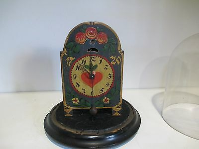 Old German Zappler Cowtail Black Forest Novelty clock in Dome