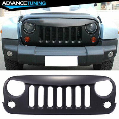 07-17 Jeep Wrangler JK ABS Front Hood Grill Grille Without Mesh
