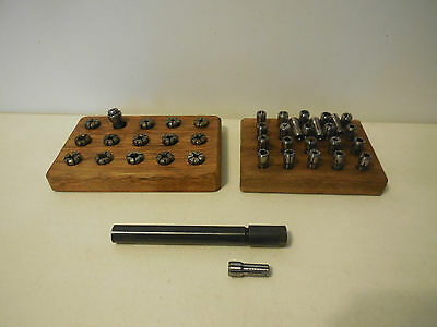 Te300-0500 Holder And 39 Assorted  Collets With 2 Wood Collet Holders