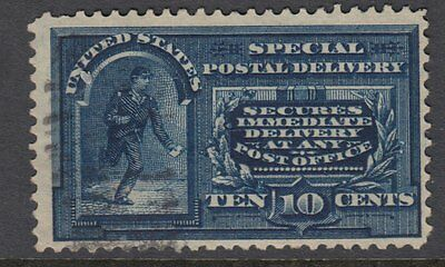 UNITED STATES OF AMERICA:1895 SPECIAL DELIVERY 10c deep blue 'dots' Scott #E5a u