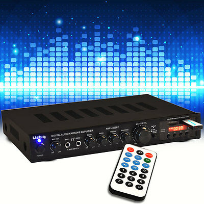 Audio DJ Verstärker Amplifier Musik Anlage USB Bluetooth Fernbedienung MP3 SD