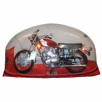Carcoon Bikebubble Bike/Motorcycle Storage Bubble Cover - Clear / Red - Large