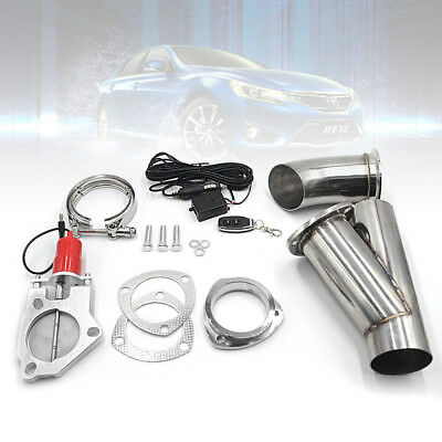 "3.0""Electric Exhaust Catback Downpipe Cutout E-CUT Out Valve Motor Kit Stainless"