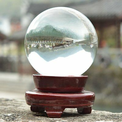 100mm Clear Crystal Glass Ball Home & Office Sphere Decoration Nice Gift UK