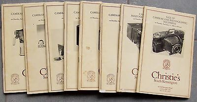Christies Cameras & Photographic Equipment Catalogues For 1980