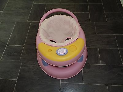 baby annabell baby walker- with play tray,on 4 wheels -zapf creation