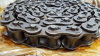 Tsubaki RS160 #160-1 Single Strand Roller Chain Cottered 10 FT - New old stock