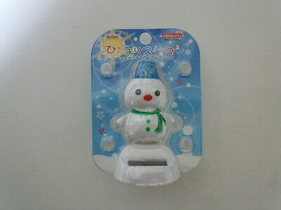 Objects of Blue Snowman Powered the Solar From Japan NEW F/S