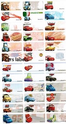 Disney Cars Personalized Labels Stickers 120pcs Water Proof McQueen