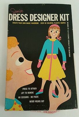 VTG JUNIOR DRESS DESIGNER KIT COLORFORMS DRESS UP KIT H&M Zelenko