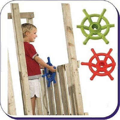 BOAT KIDS STEERING WHEEL for Climbing Frame Playground acc LIME /RED FREE P&P!
