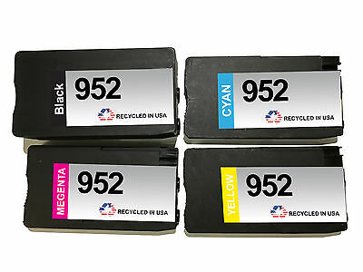 4-Pk 952 1 Black 1 Cyan 1 Magenta 1 Yellow Remanufactured Ink Cartridges