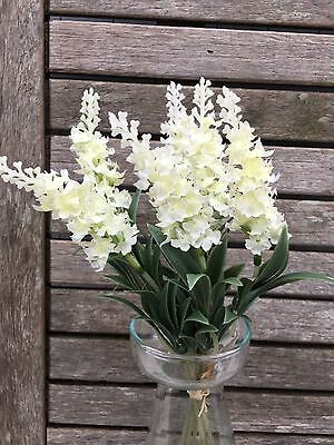 1 Bunch of Cream Artificial Lavender in Bloom Sprigs,Cottage Faux Silk Flowers