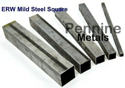 ERW SQUARE TUBE Mild Steel 1.5 mm Wall - Band Saw Cut UK Trade Metal Supplier