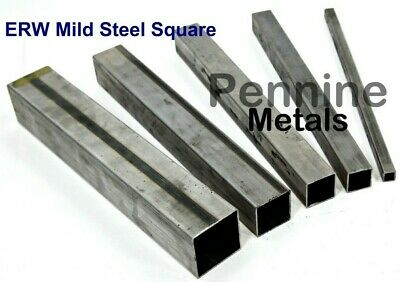 ERW SQUARE TUBE Mild Steel 1.5mm Wall - 7 Sizes & 10 popular Lengths