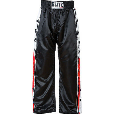Xtreme Satin Full Contact Trousers - Black/red