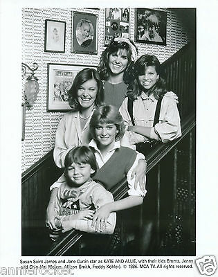 "Kate & Allie-Mca Tv 8""x10"" B & W Photo-Jane Curtain-Susan Saint James-#762-1986"