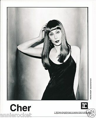 "Cher 8"" x 10"" Photo + It's A Man's World Printed Media-Reprise-#704-1995"