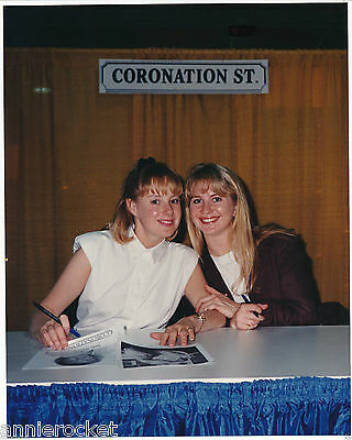 Coronation Street-Sally Webster-Dawn Preston-3 Photos 2 are Signed-#318-1990's