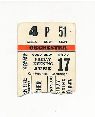 "Cher O'Keefe Centre-Post ""Two the hard way"" Canada-Ticket stub-#892-June 17-1977"