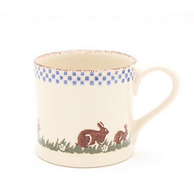 BRIXTON POTTERY NEW HANDMADE 250ml POTTERY MUG - Rabbits