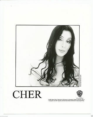 """Cher 8"""" x 10"""" Black & White Photo for Warners 1998 Promotion for Believe-#177"""