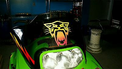 Custom Arctic Cat Snowmobile Windshield Sticker Decal Zr Zl Z Pantera  Bearcat