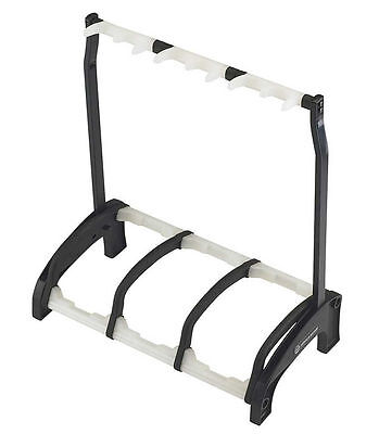 """K&M 17513 3-Guitar Stand """"Guardian 3"""" - Black With Translucent Support Elements"""