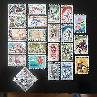 DAHOMEY  Lot #1      23 used stamps mixture  all different commemoratives BENIN