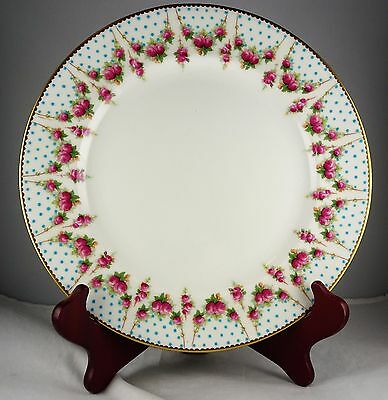 Royal Doulton Cabinet Plate - Floral & Gold With Enamel Dots