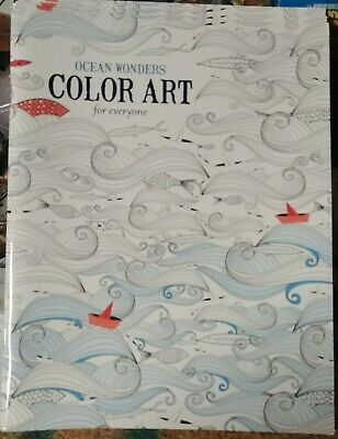 Adult Coloring Book Ocean Wonders Color Art  Leisure Arts Stress Reliever 2015