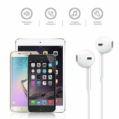 5X high quality Wired In-Ear Earphones with Remote & Mic for iphone 5 6 samsung
