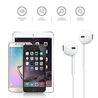 5pack Wholesale Earphone Earbuds with Remote Mic Vol 3.5mm Jack for iPhone 5 6