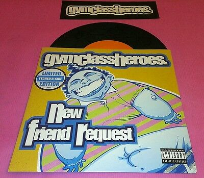 """Gym Class Heroes - New Friend Request 7"""" Ltd Ed. Etched Vinyl Record"""