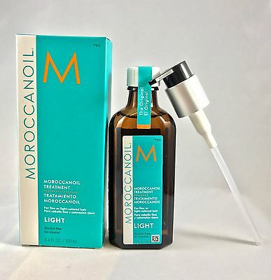 100% Authentic MOROCCANOIL Moroccan Oil treatment LIGHT 100ml 3.4 Oz