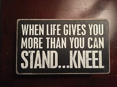 NWT Primatives By Kathy More Than You Can Stand Kneel Shadow Box