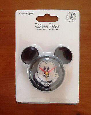 NEW Authentic Disney Parks - Mickey Mouse Head Clock Magnet