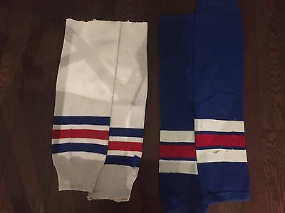 New York Ranger Game Used Hockey Socks NHL